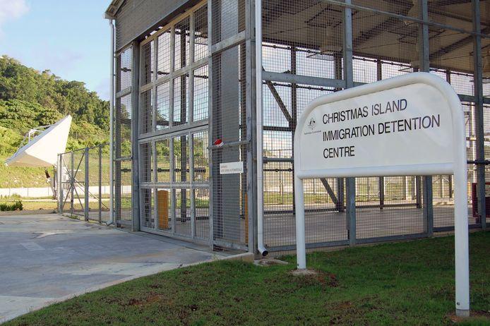 Het detentiecentrum op Christmas Island.