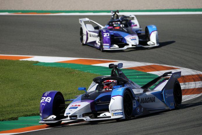 De BMW iFE21 tijdens een Formule E-race in Valencia eerder dit jaar