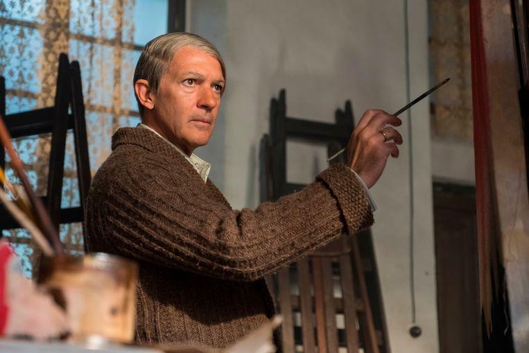 Antonio Banderas overtuigt als Pablo Picasso in 'Genius: Picasso'. Beeld AP