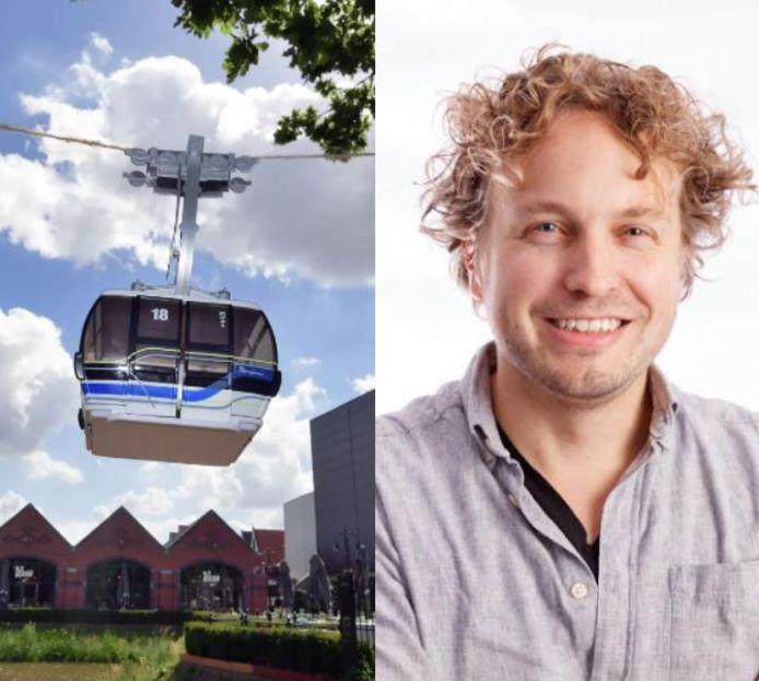 Het Roosendaalse plan voor een kabelbaan klonk als een wanhoopspoging, vindt columnist Niels Herijgens.
