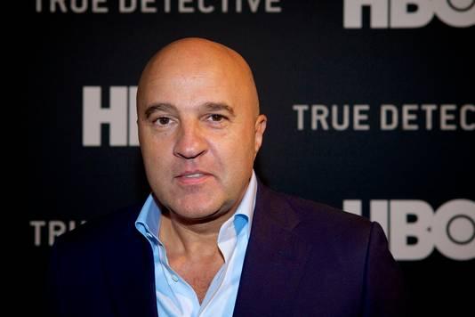 Misdaadverslaggever John van den Heuvel op de rode loper voorafgaand aan de Nederlandse premiere van de HBO-productie True Detective.