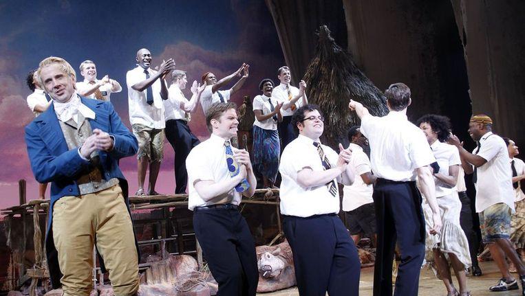 De cast van de musical The Book of Mormon. © BrunoPress Beeld