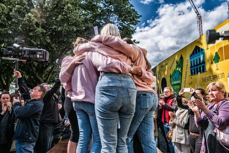 De dood van Julie Van Espen bracht in mei 2019 zeker 15.000 mensen bijeen in Antwerpen om met een stille mars te protesteren tegen seksueel geweld. Beeld Tim Dirven