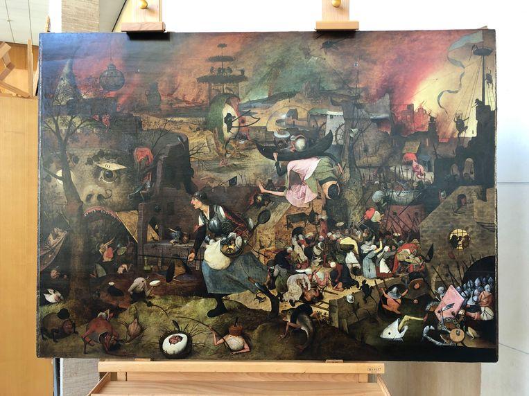 Het schilderij Dulle Griet van Pieter Bruegel de Oude is net gerestaureerd. Beeld BELGA