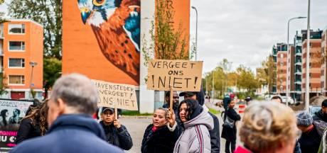 Bewoners van Capelse Hoven protesteren: 'Ik blijf gewoon in mijn huis'
