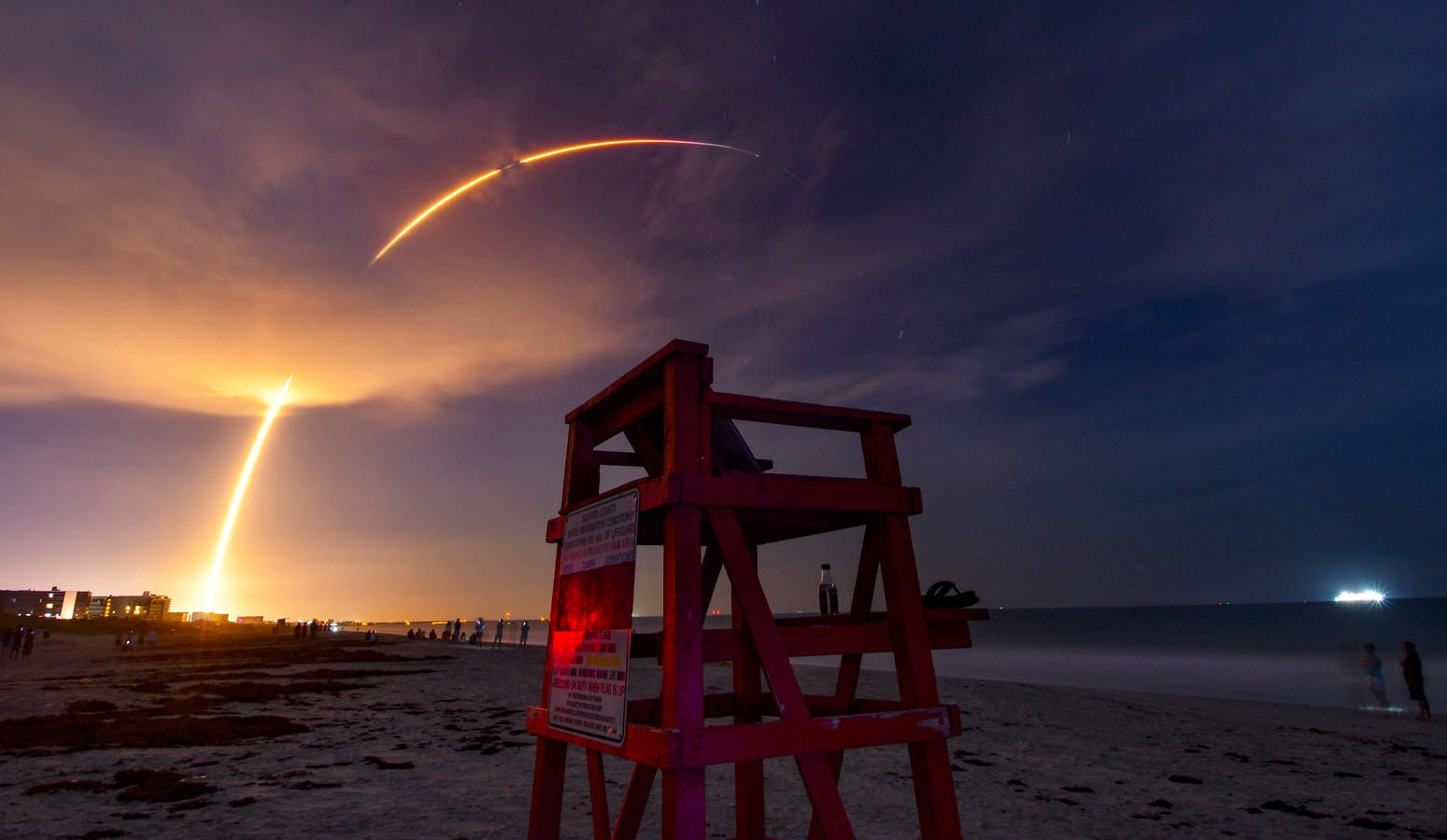 Le lanceur Falcon-9 a décollé du cap Canaveral à 7H12.