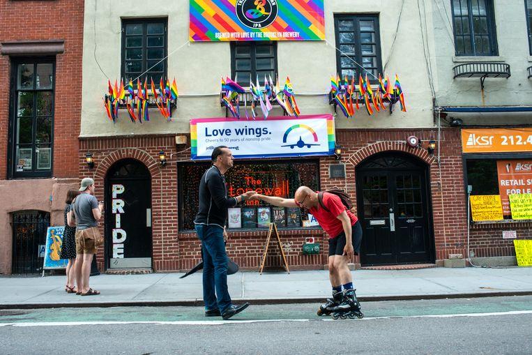 De Stonewall Inn in The Village.  Beeld Monique Jaques
