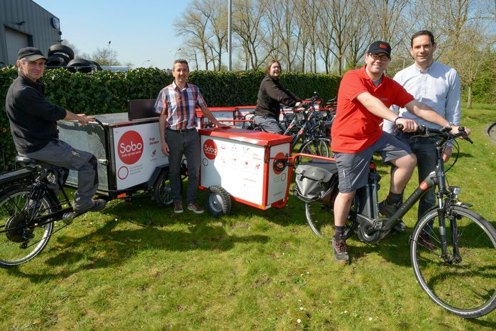 Archiefbeeld: Sobo kan je in Brugge kennen van deze elektrische fietsen, waarmee ze rondrijden.