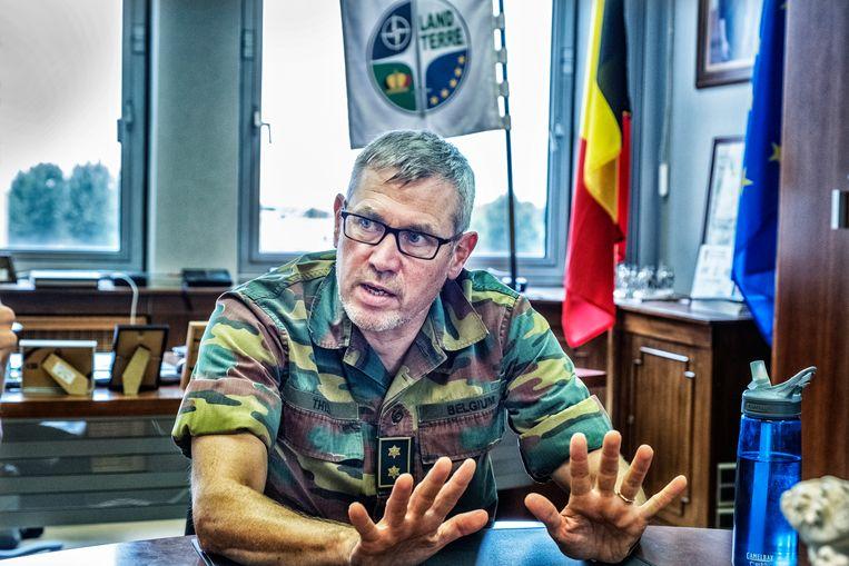 Generaal-majoor Marc Thys, de nummer twee van het Belgische leger. Beeld Tim Dirven