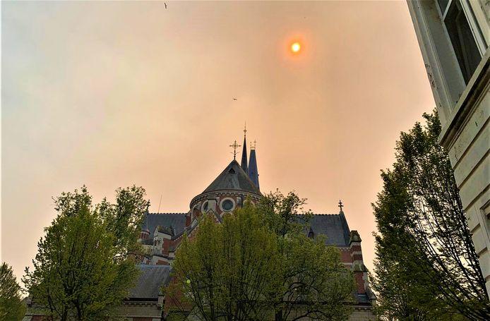 In Borgerhout is er een soort van zonsverduistering aan de hand.