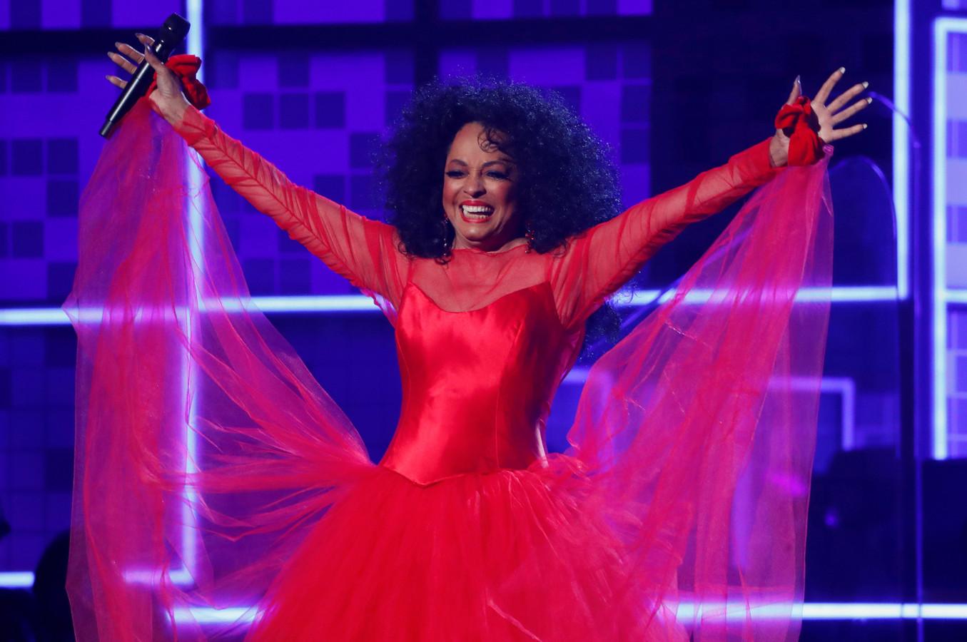 Diana Ross tijdens de Grammy Awards in 2019