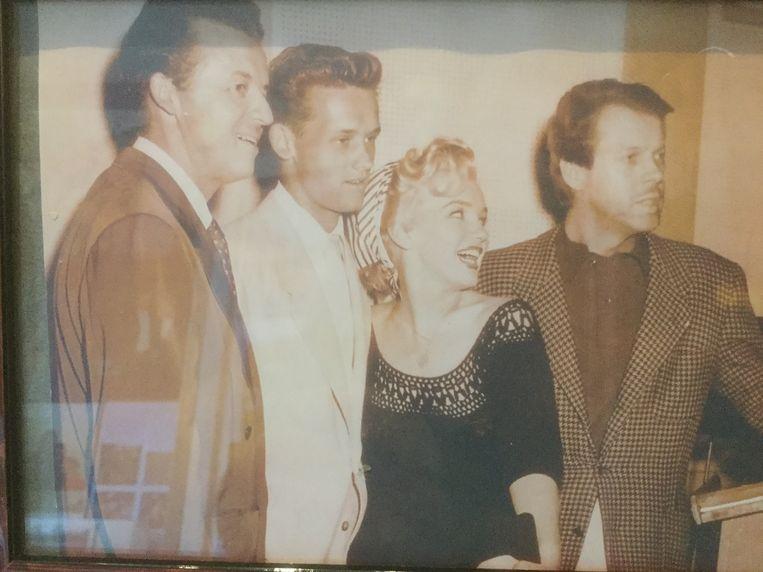Frans Billen samen met Marilyn Monroe ergens in de jaren 50.