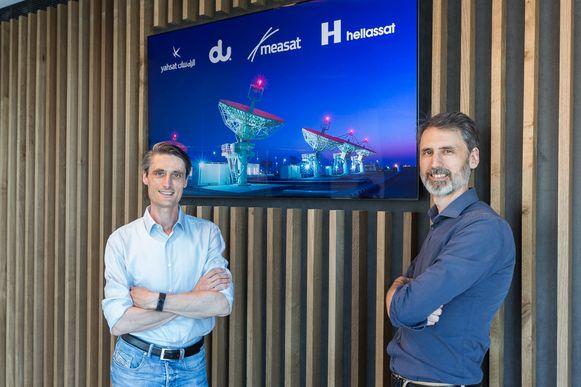 Bert en Frederik Vandenberghe van Skyline Communications mogen enkele nieuwe grote internationale klanten verwelkomen.