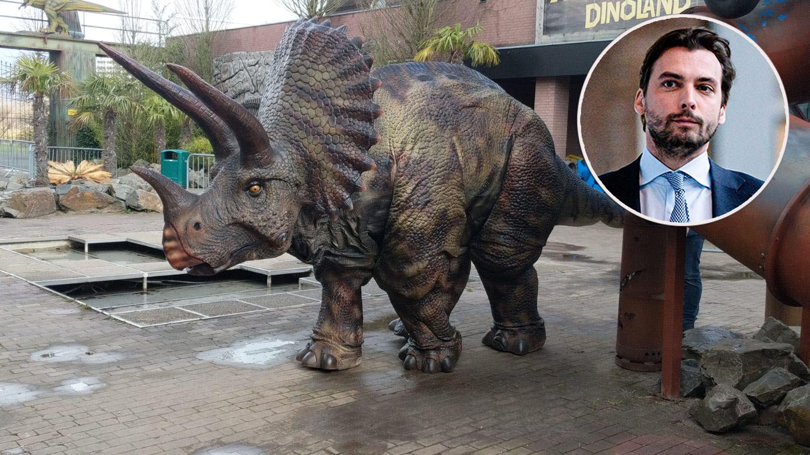 De Triceratops in Dinoland: inzet: Thierry Baudet.
