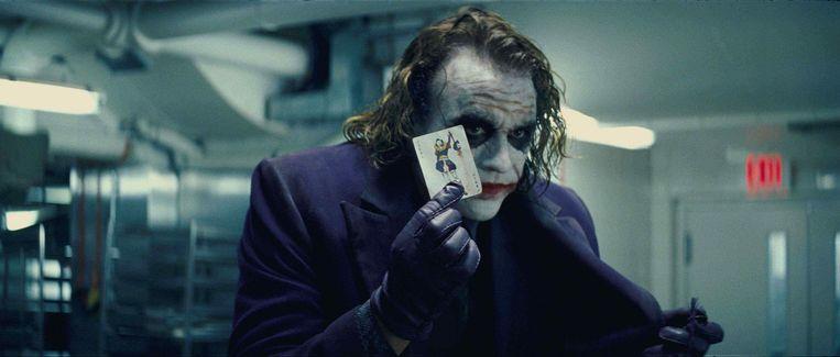 Heath Ledger in The Dark Knight. Beeld