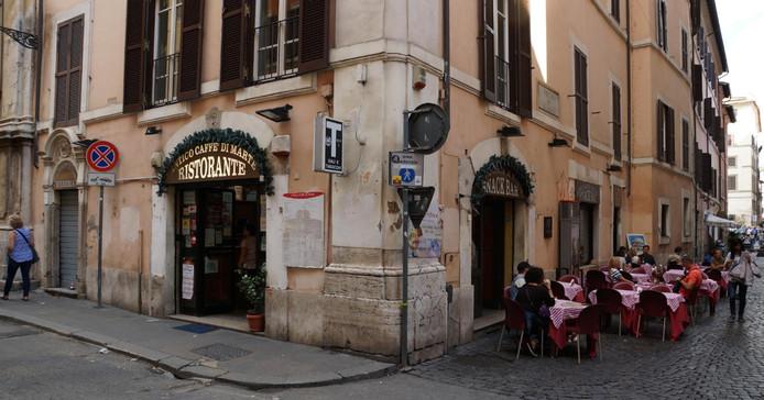 Het bewuste restaurant in Rome