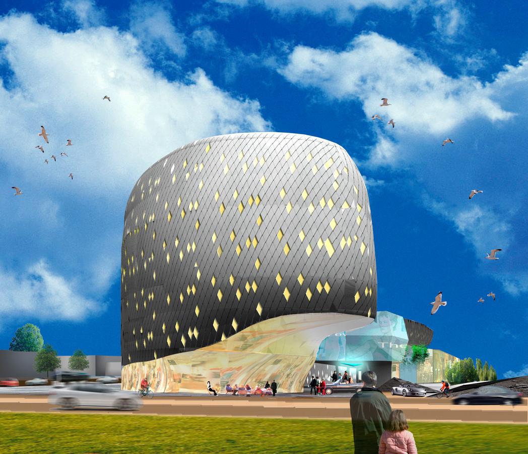 Artist impression met gevelbeeld van het project Almelo Nouveau, aan de Nijreessingel.