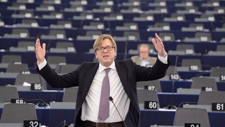 Zowat in zijn eentje maakte de oud-premier van het Europees Parlement weer een plek waar over het wezen van de res publica werd gedebatteerd. Beeld EPA