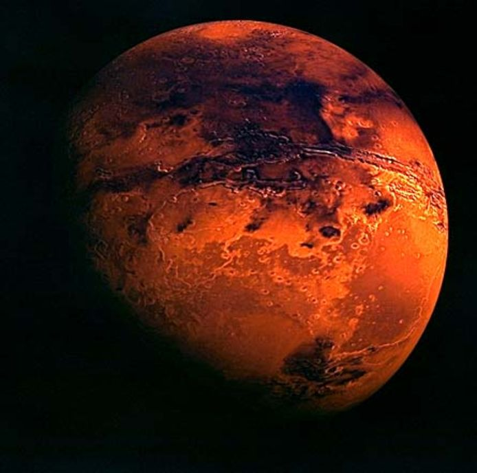 Nasa wil op den duur naar Mars, ook wel de rode planeet genoemd.