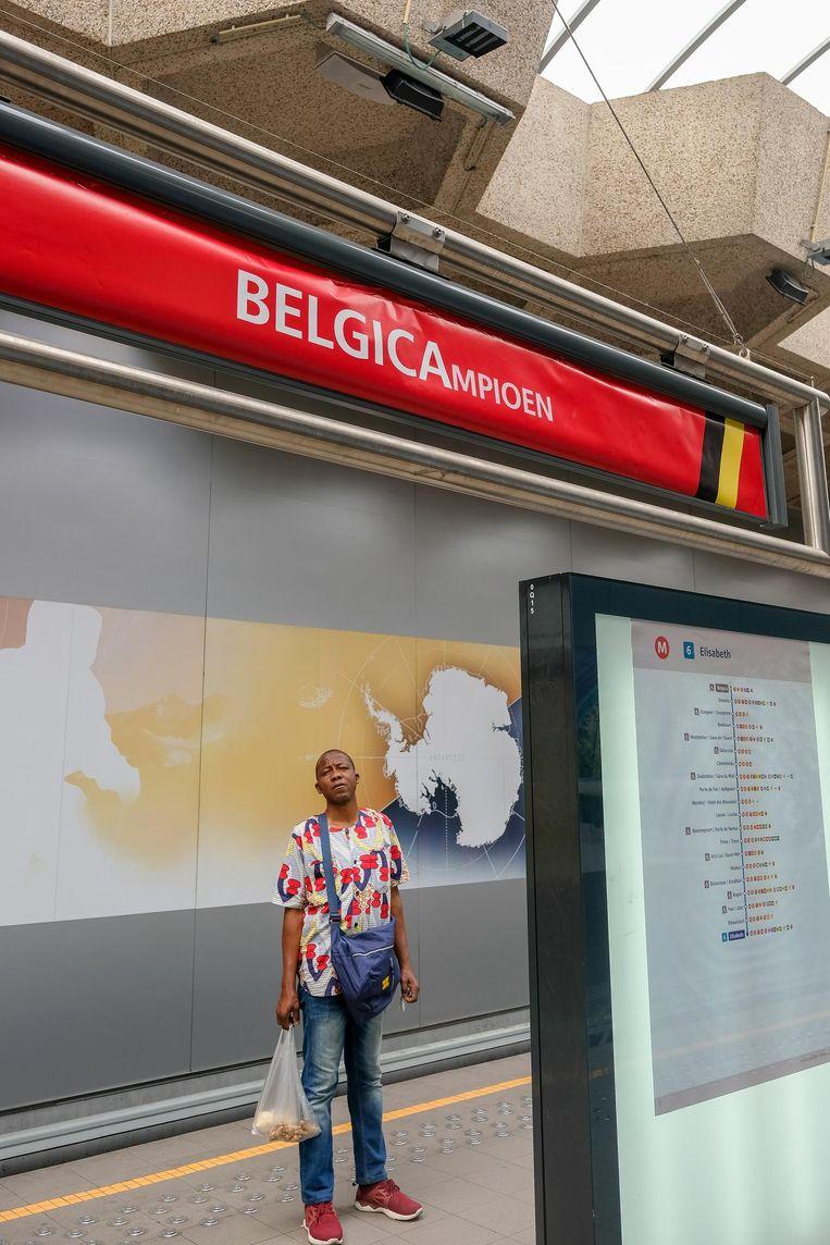 Halte Belgica is tijdelijk omgedoopt tot BELGICAmpioen.