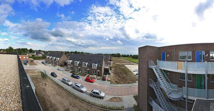 De meeste nieuwe huizen verrijzen in Ochten in de wijk Triangel.