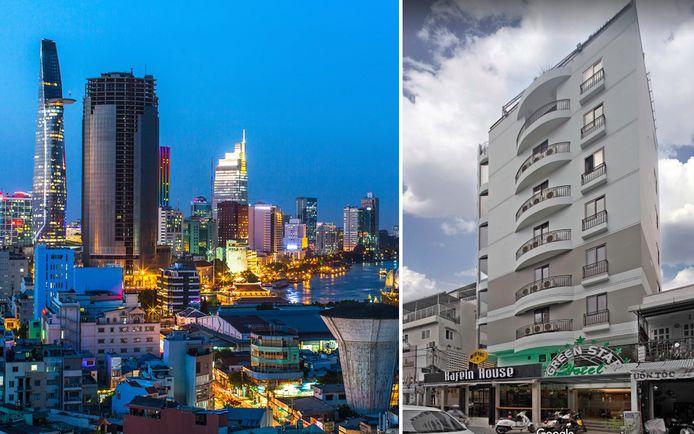 Na een uitstap in Ho Chi Minh keerde Yves terug naar zijn hotel (rechts). Zijn kamer bleek ingenomen door andere toeristen.
