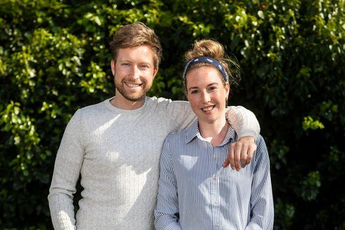 Lara van Ruijven met haar broer Olav.