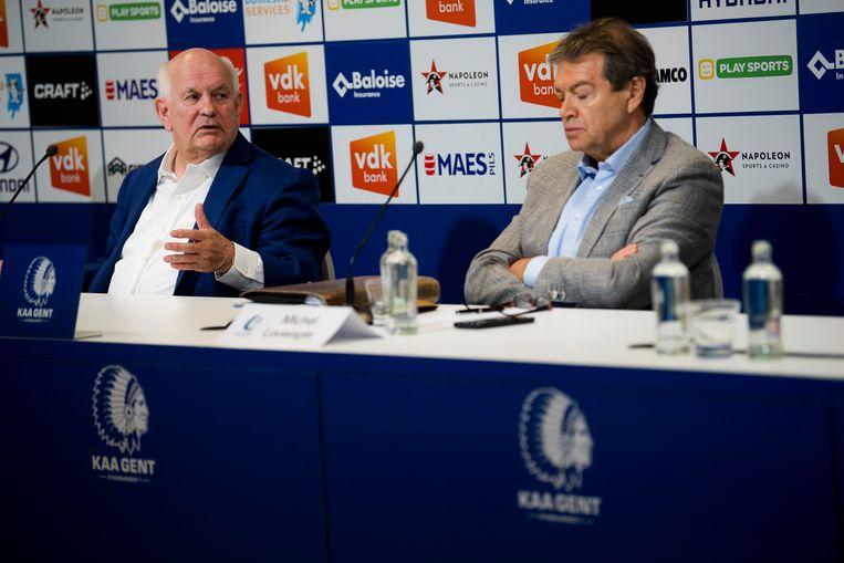 Louwagie (r.) met voorzitter Ivan De Witte. Beeld BELGA