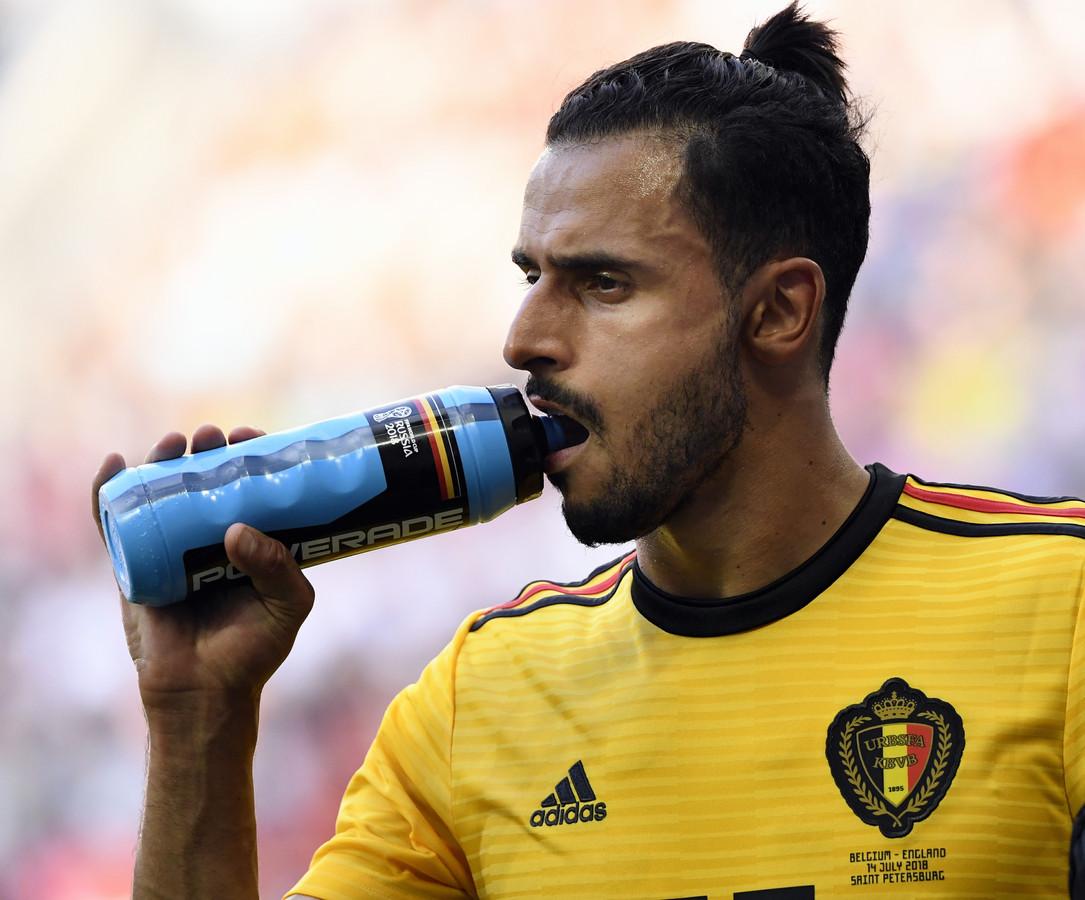 Chadli in het shirt van België.