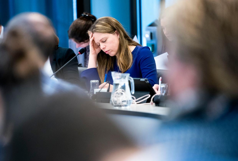 Minister Carola Schouten van Landbouw, Natuur en Voedselkwaliteit (ChristenUnie) tijdens het algemeen overleg in de Tweede Kamer over de stikstofproblematiek.  Beeld Freek van den Bergh / de Volkskrant