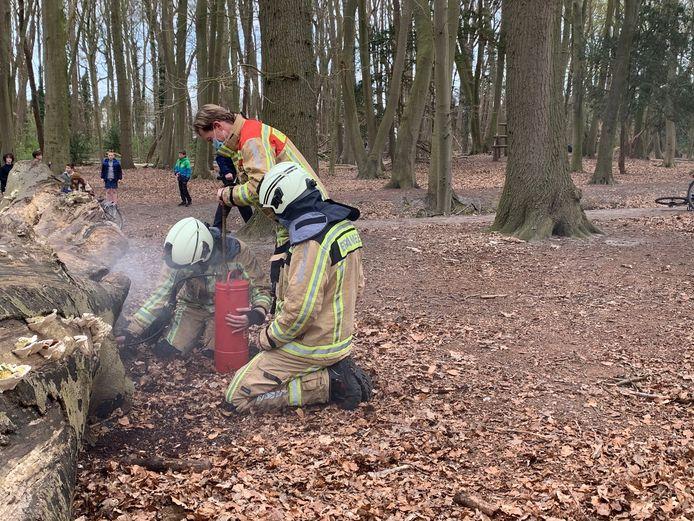 De brandweer had de situatie snel onder controle.