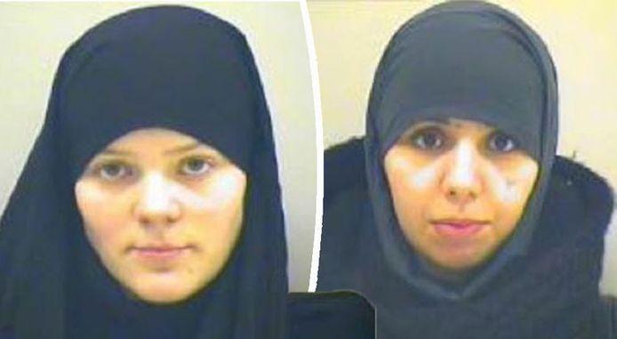 IS-strijdsters Tatiana Wielandt (25) en haar schoonzus Bouchra Abouallal (25).