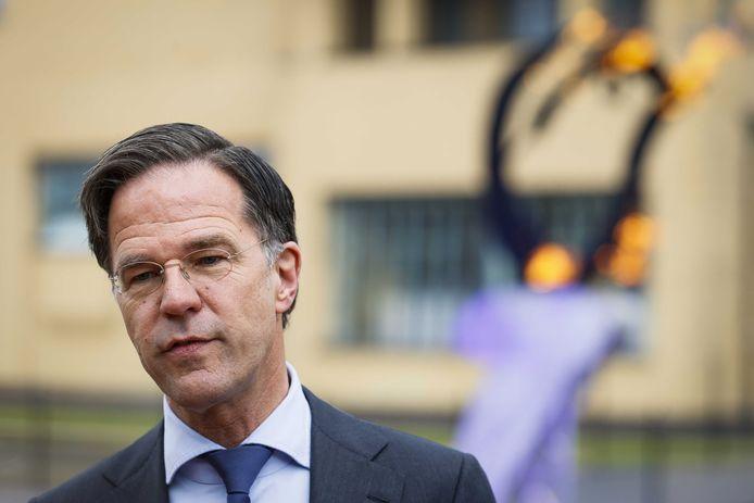 Mark Rutte voor het ontsteken van de bevrijdingsvlam.
