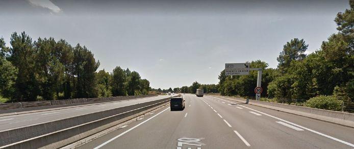 Het incident vond plaats op de snelweg A63 Bordeaux-Spaanse grens, ter hoogte van Liposthey.