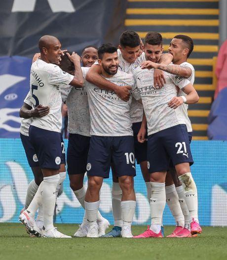 Manchester City s'impose à Crystal Palace et peut être sacré dimanche