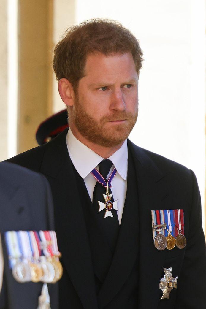 Le prince Harry lors des funérailles du prince Philip.