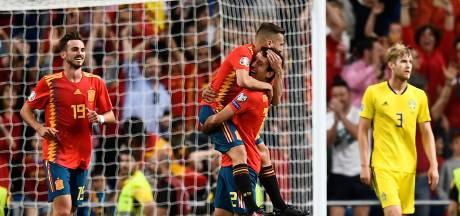 Spanje neemt dankzij late goals verder afstand van Zweden