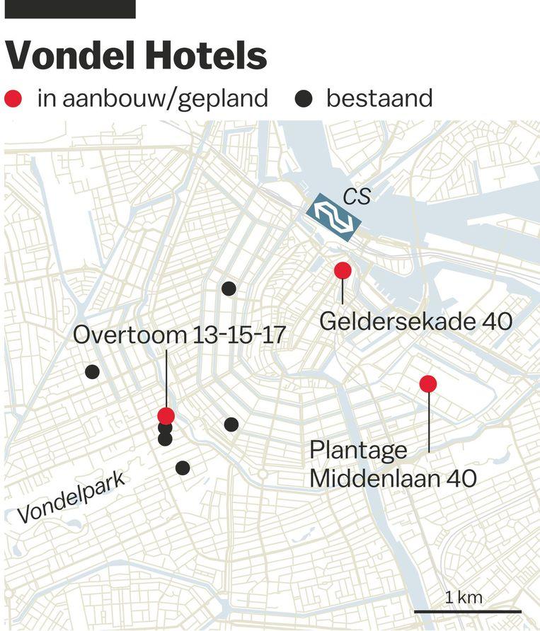 Dertien jaar geleden nam Van den Hof (51) in de Vondelstraat een hotel over dat zou uitgroeien tot naamgever van zijn hotelgroep Beeld Jorris Verboon