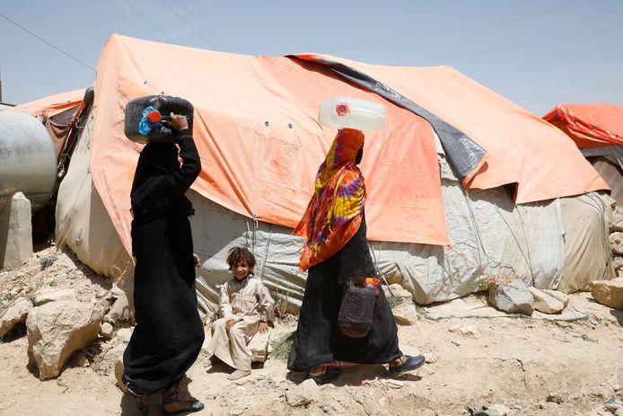 De burgeroorlog in Jemen sleept al zes jaar aan. Het land telt twee miljoen binnenlandse vluchtelingen