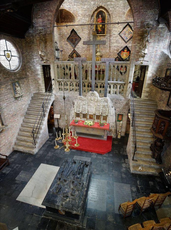 De tombe bevindt zich in de Jeruzalemkerk in Brugge.