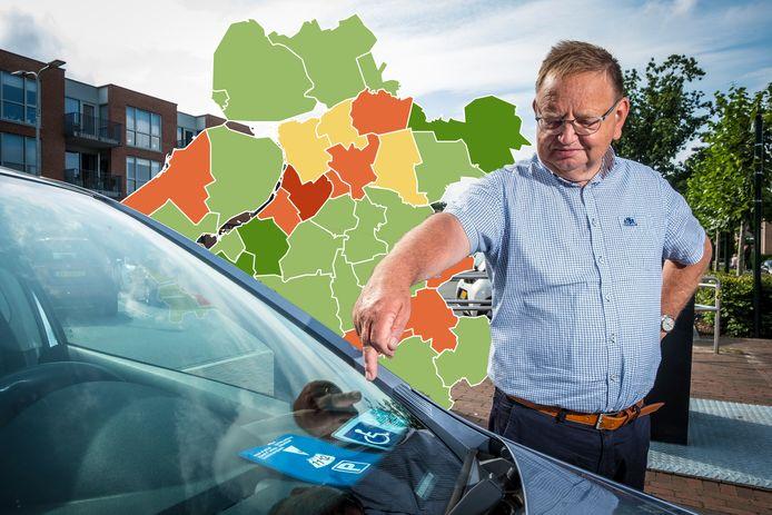 Warner Pap is lid van het Gehandicaptenberaad Elburg. In deze gemeente kost de parkeerkaart, inclusief medische keuring, 183 euro. Dat is een van de hoogste tarieven in deze regio. In buurgemeente Nunspeet is de kaart gratis.