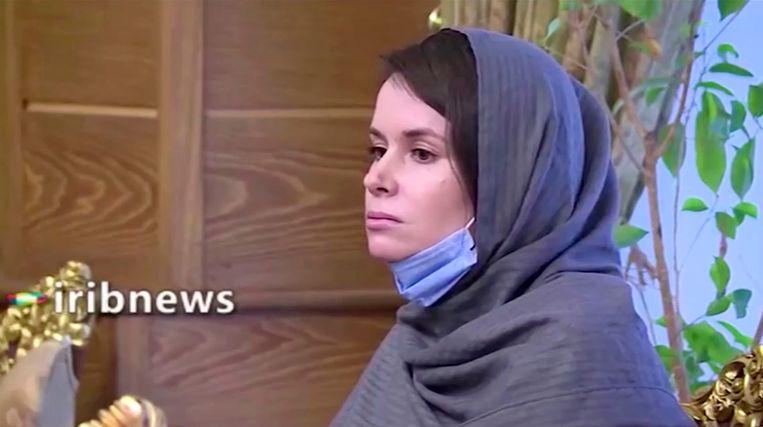 Kylie Moore-Gilbert, hier op videobeeld van 26 november, na haar vrijlating. Beeld Reuters