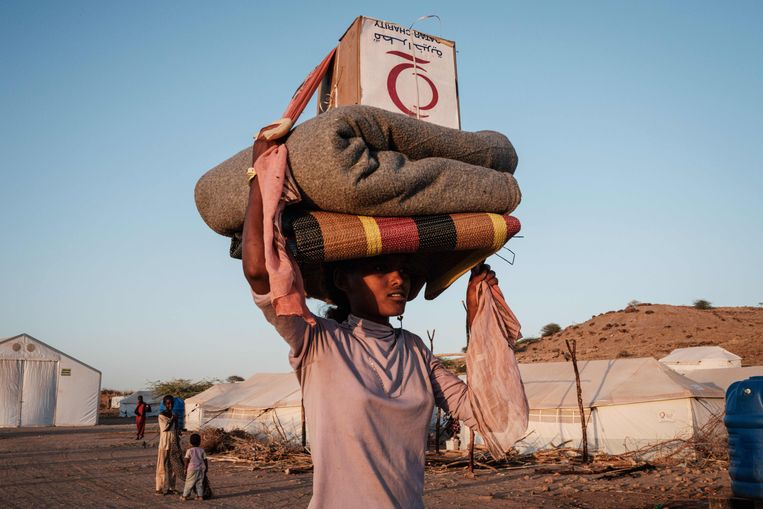 Vluchteling uit Ethiopië in Soedan.  Beeld AFP