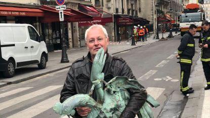Windhaan van Notre-Dame teruggevonden tussen het puin