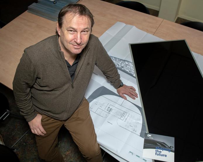 Bart Driehuis van D&K. Hij ontwikkelt innovatieve zonnecollectoren..