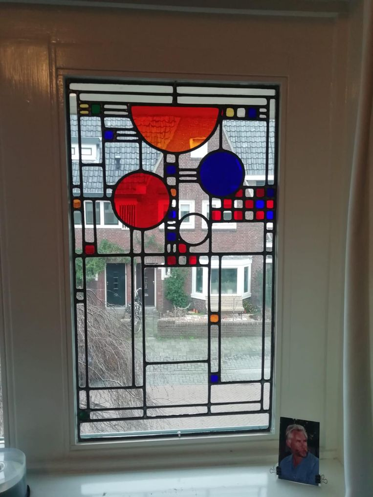 Werk van de Amsterdamse Glas in Lood Zetterij. Beeld Rink Hof