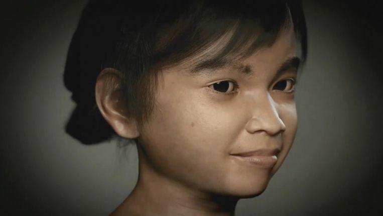 Het virtuele Filipijnse meisje Sweetie, waardoor meer dan duizend pedofielen konden worden gearresteerd. Beeld Terre des Hommes