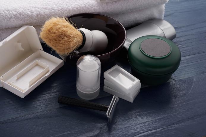 Barbershop benodigdheden, foto ter illustratie
