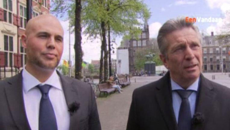 Joram van Klaveren en Louis Bontes in EenVandaag. Beeld null