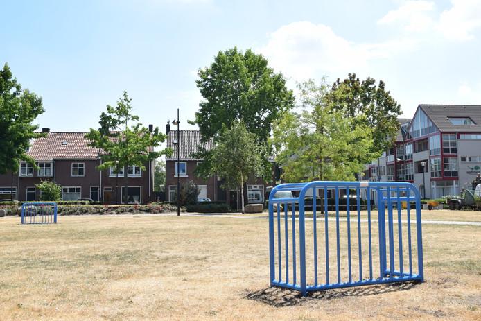 Panna-doeltjes op Oranjeplein in Goirle.